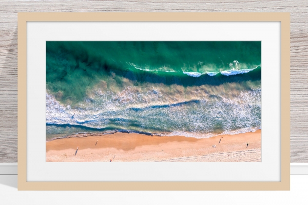 080 - Jason Mazur - 'Scarborough Beach Aerial' Light Frame