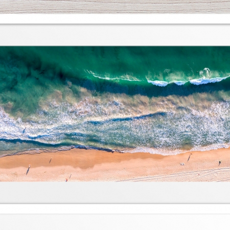 080 - Jason Mazur - 'Scarborough Beach Aerial' White Frame