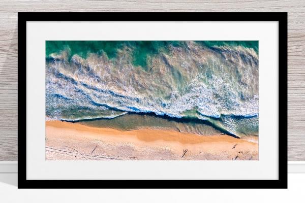 081 - Jason Mazur - 'Scarborough Beach Aerial' Black Frame