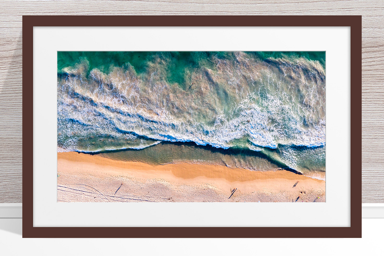 081 - Jason Mazur - 'Scarborough Beach Aerial' Dark Frame