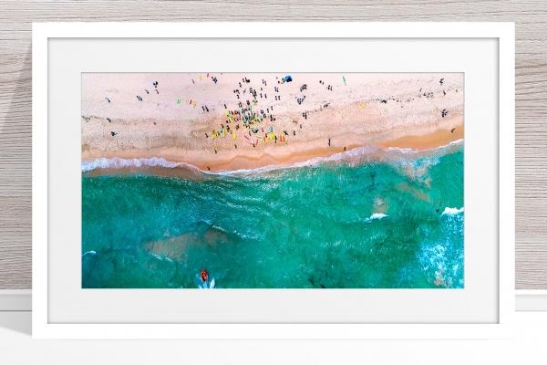 093 - Jason Mazur - 'Trigg Beach Surf Carnival' White Frame