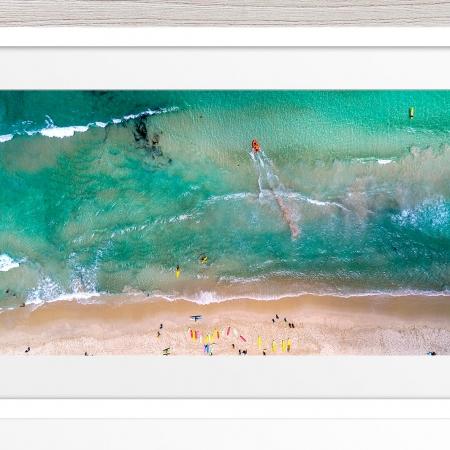 094 - Jason Mazur - 'Trigg Beach Surf Carnival' White Frame