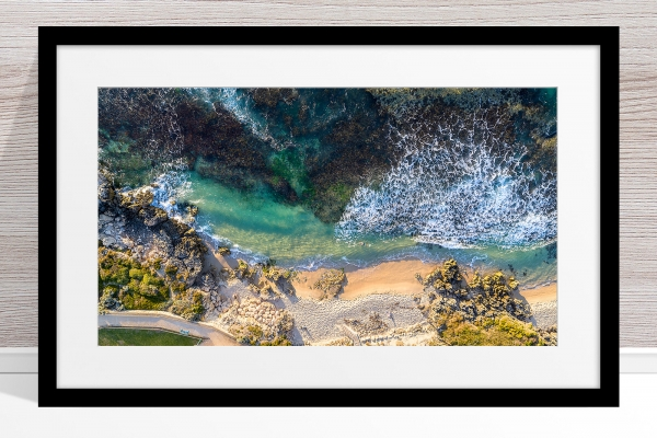 103 - Jason Mazur - 'Hamersley Pool, North Beach' Black Frame