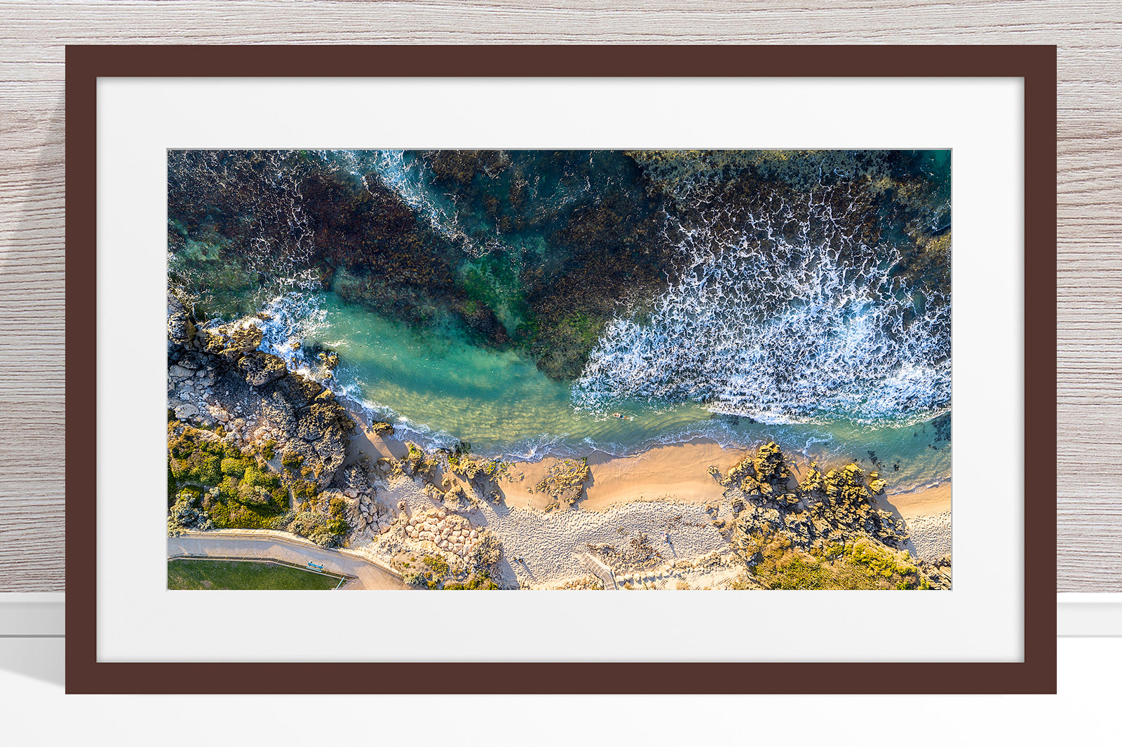 103 - Jason Mazur - 'Hamersley Pool, North Beach' Dark Frame