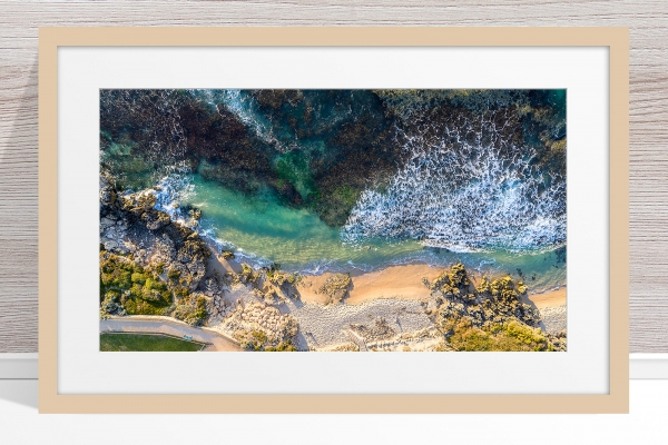 103 - Jason Mazur - 'Hamersley Pool, North Beach' Light Frame