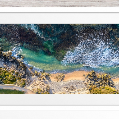 103 - Jason Mazur - 'Hamersley Pool, North Beach' White Frame