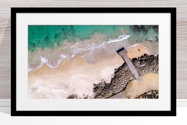 105 - Jason Mazure - 'North Beach Paddler' Black Frame