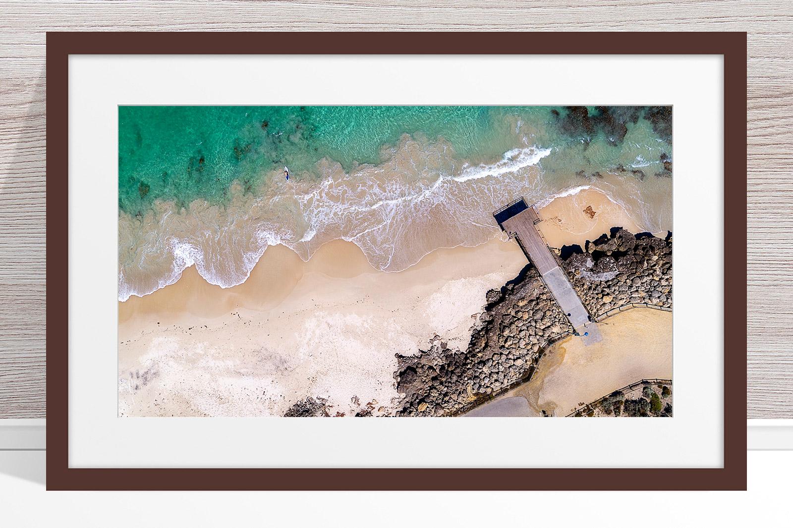 105 - Jason Mazure - 'North Beach Paddler' Dark Frame