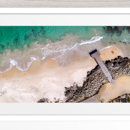 105 - Jason Mazure - 'North Beach Paddler' White Frame