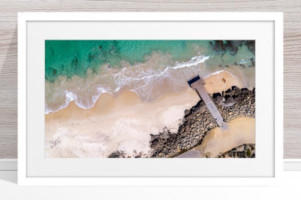 105 - Jason Mazure - 'North Beach Paddler' White Frame