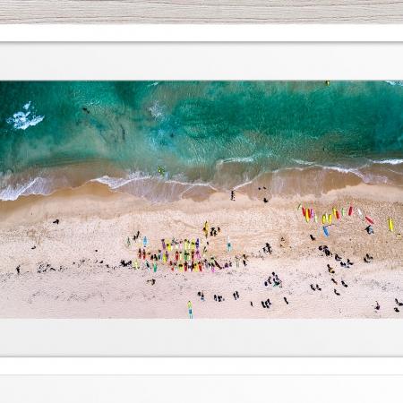 112 - Jason Mazur - 'Trigg Beach Surf Carnival' White Frame