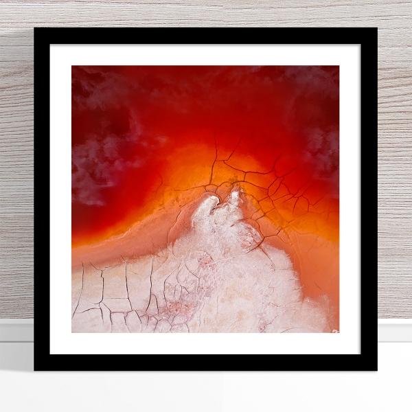 Chris Saunders - 'Aerial Alcoa 002' Black Frame
