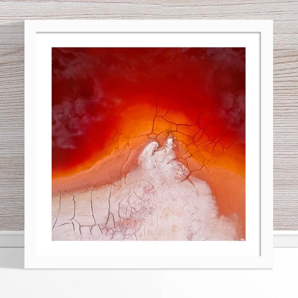 Chris Saunders - 'Aerial Alcoa 002' White Frame