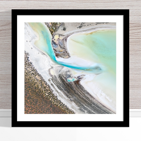 Chris Saunders - 'Aerial Coast 002' Black Frame
