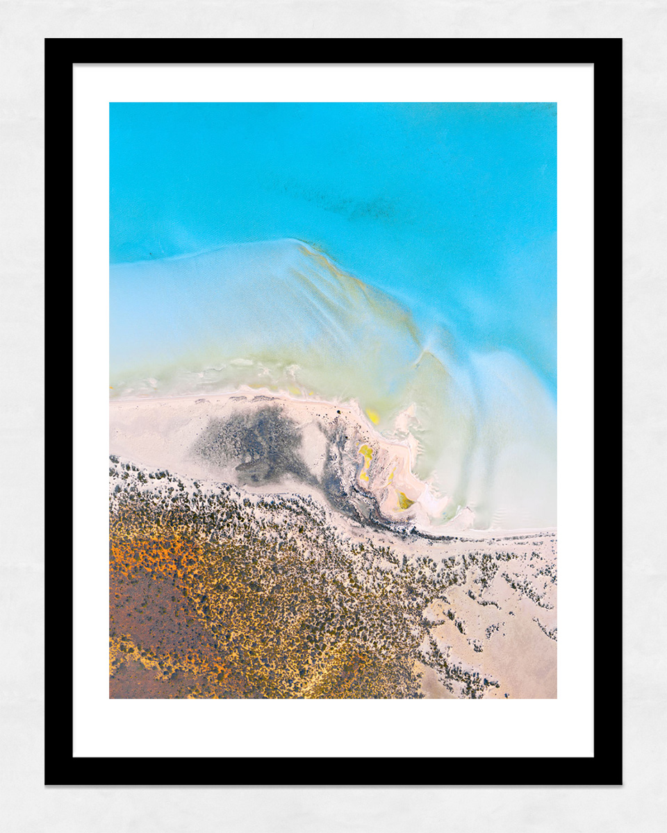 Chris Saunders - 'Aerial-Coast-004' Black Frame