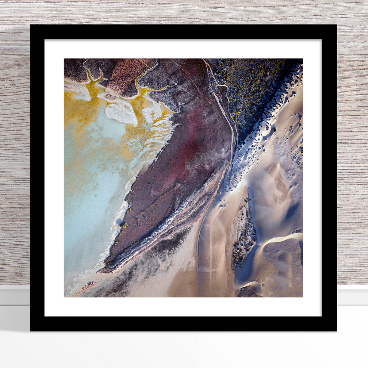 Chris Saunders - 'Aerial Coast 005' Black Frame