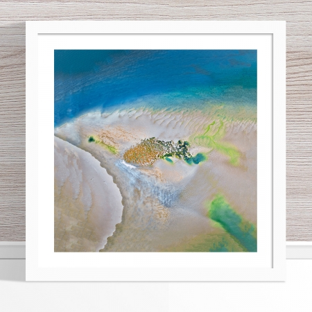 Chris Saunders - 'Aerial Coast 008' White Frame