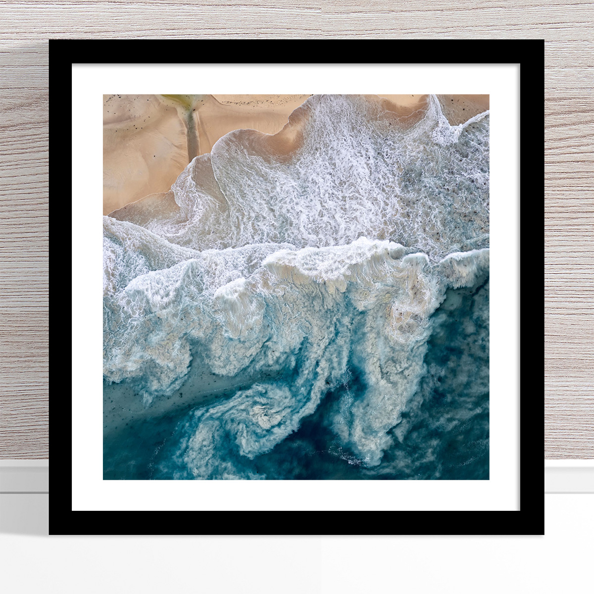 Chris Saunders - 'Aerial Coast 010' Black Frame
