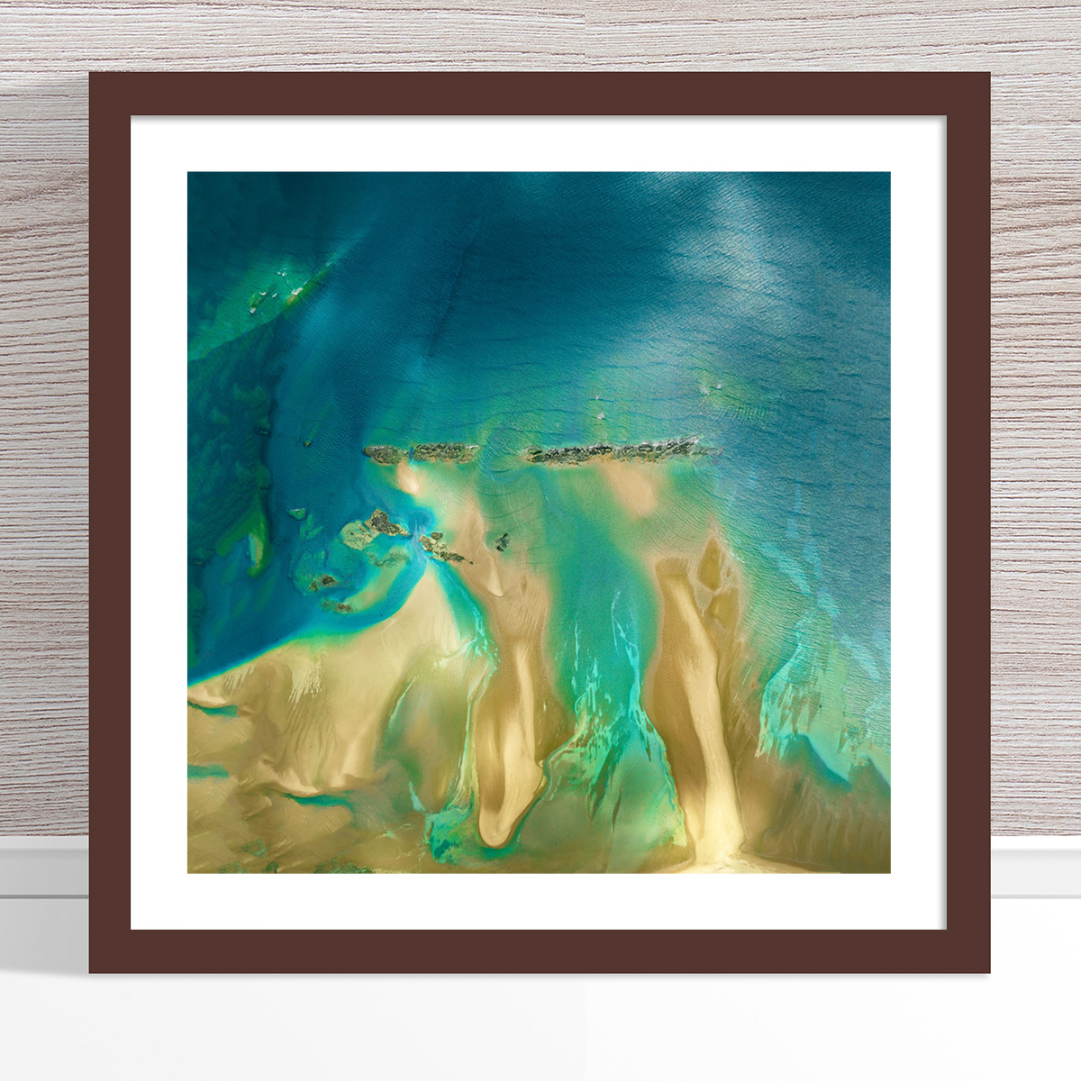 Chris Saunders - 'Aerial Coast 011' Dark Frame