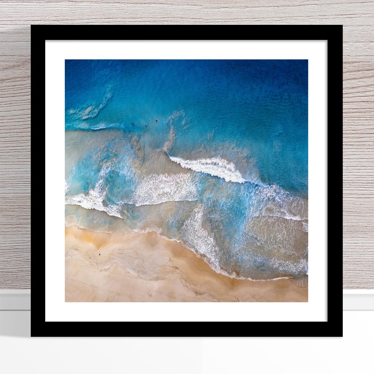 Chris Saunders - 'Aerial Coast 020' Black Frame