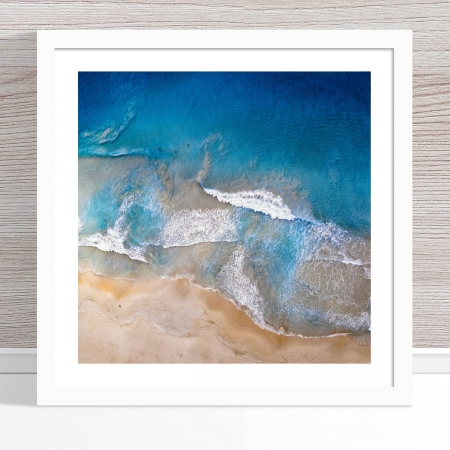 Chris Saunders - 'Aerial Coast 020' White Frame