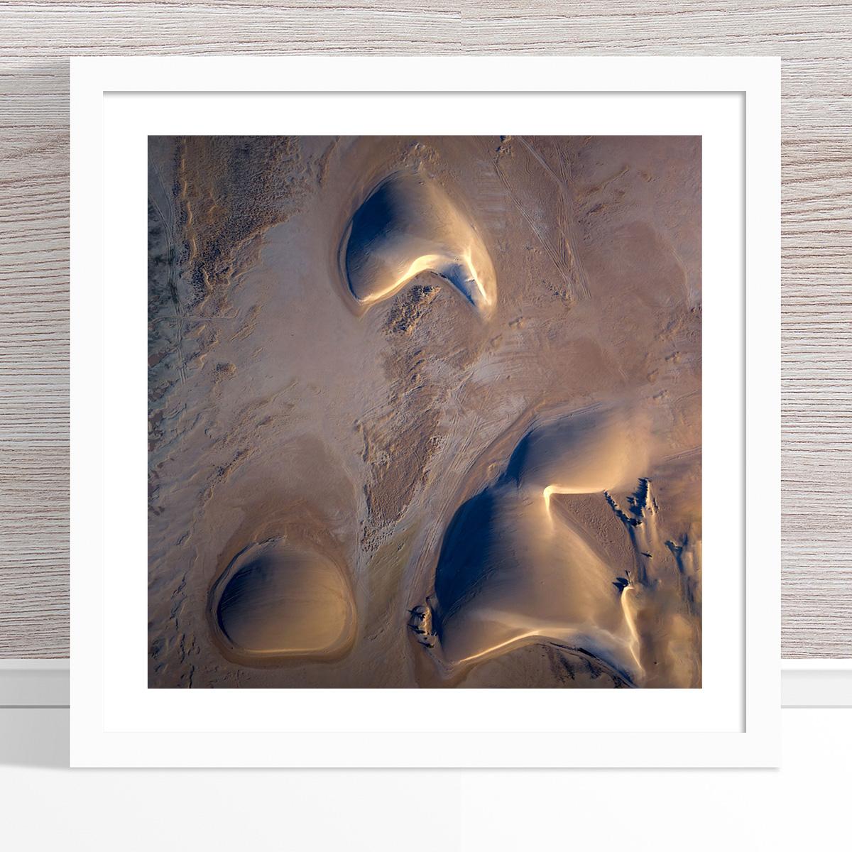 Chris Saunders - 'Aerial Dunes 001' White Frame