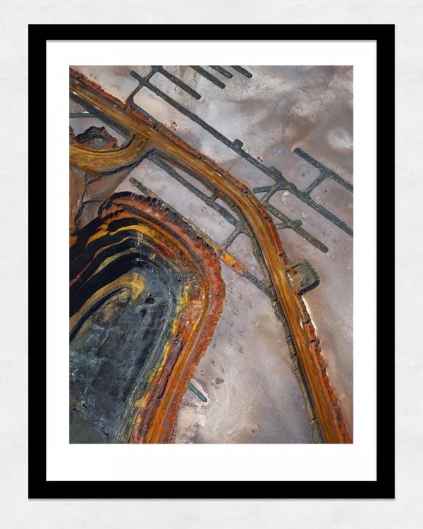 Chris Saunders - 'Aerial Industrial 001' Black Frame