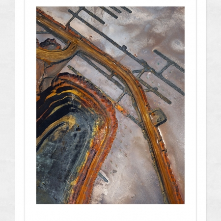 Chris Saunders - 'Aerial Industrial 001' White Frame