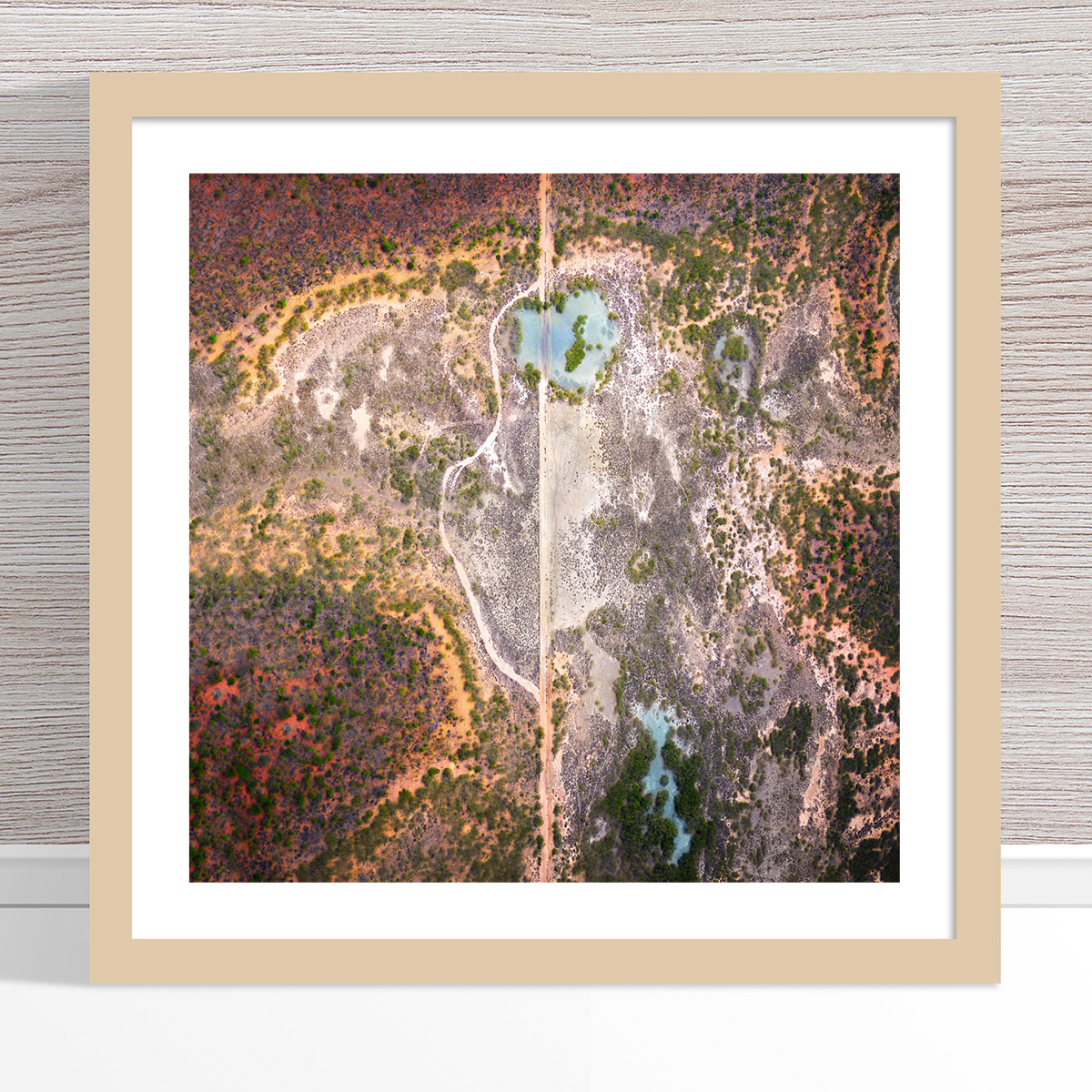 Chris Saunders - 'Aerial Outback 001' Light Frame
