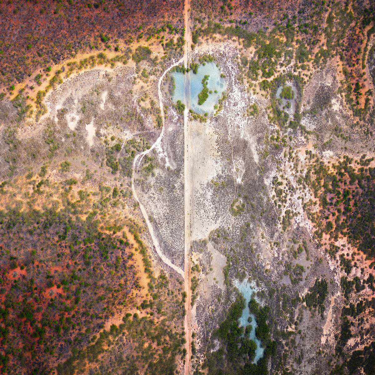 Chris Saunders - 'Aerial Outback 001'