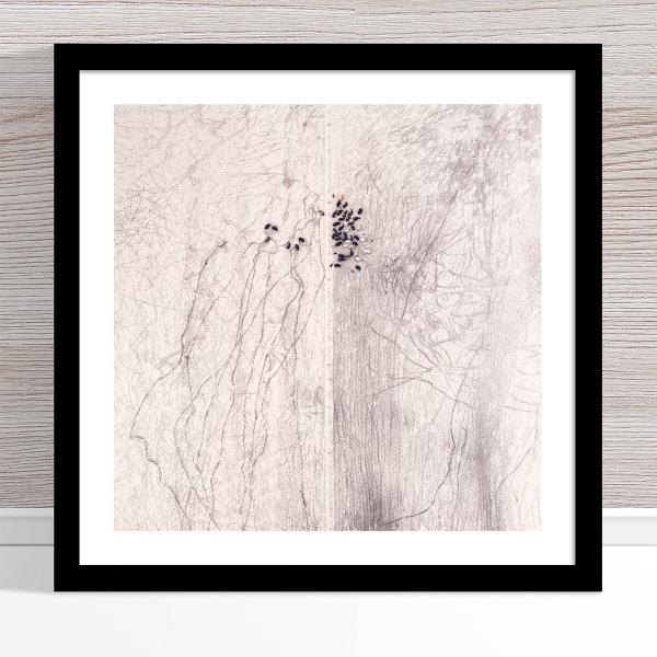 Chris Saunders - 'Aerial Outback 002' Black Frame