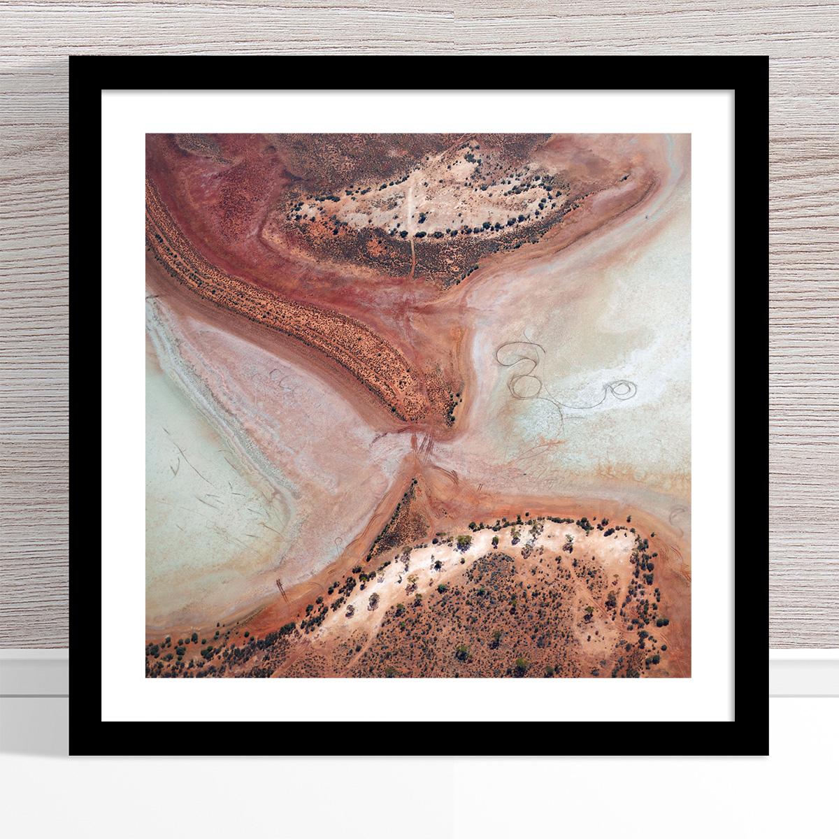 Chris Saunders - 'Aerial Outback 003' Black Frame