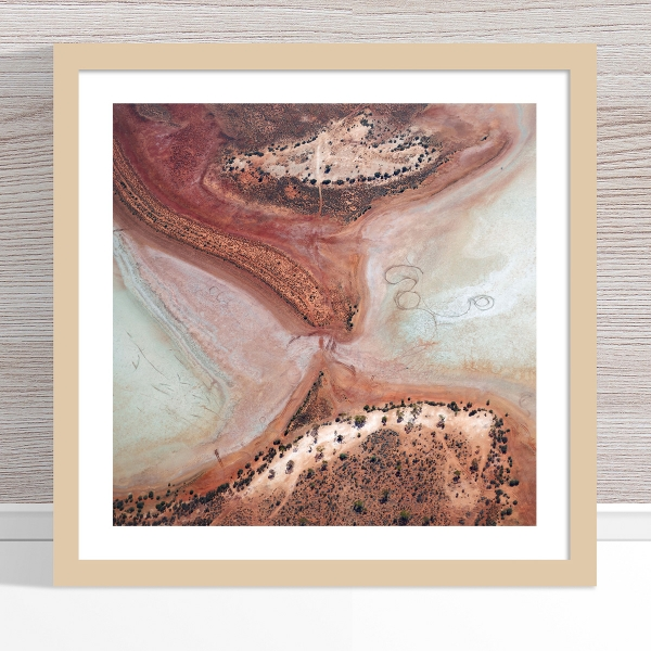 Chris Saunders - 'Aerial Outback 003' Light Frame