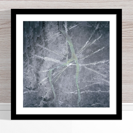 Chris Saunders - 'Aerial Outback 004' Black Frame