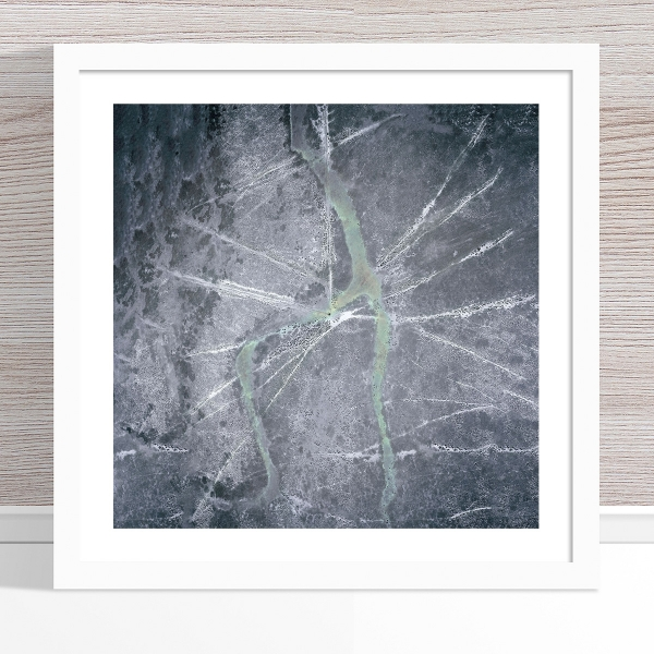 Chris Saunders - 'Aerial Outback 004' White Frame