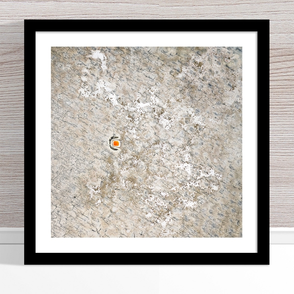 Chris Saunders - 'Aerial Outback 008' Black Frame