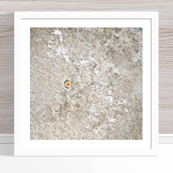 Chris Saunders - 'Aerial Outback 008' White Frame