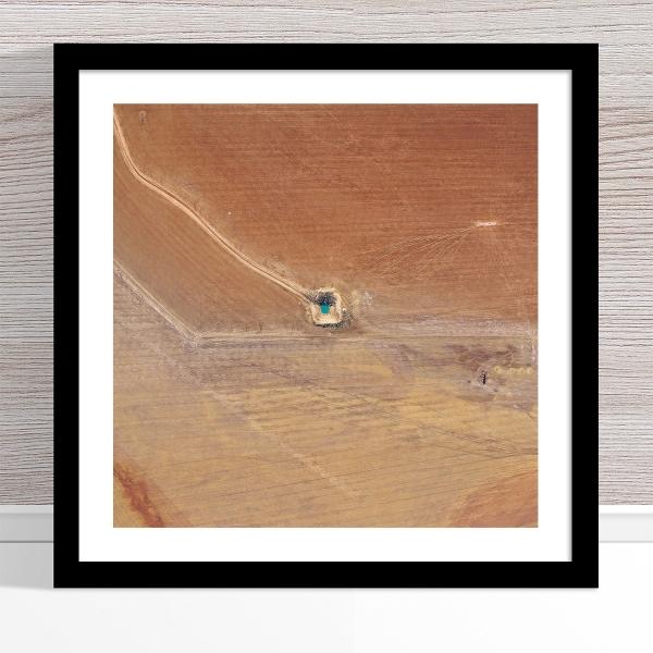 Chris Saunders - 'Aerial Outback 013' Black Frame