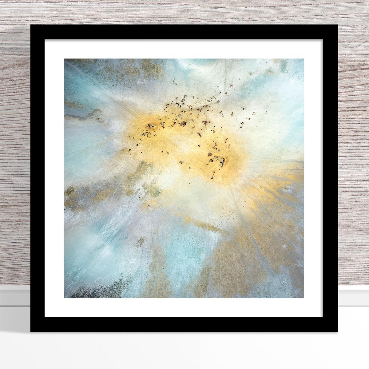 Chris Saunders - 'Aerial Outback 014' Black Frame