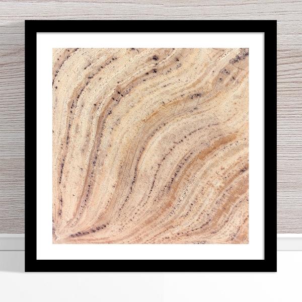 Chris Saunders - 'Aerial Outback 015' Black Frame