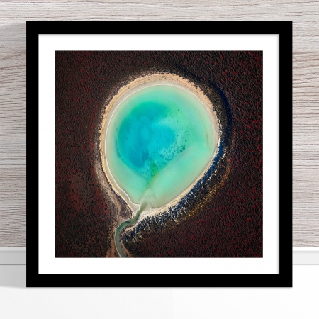 Chris Saunders - 'Aerial Outback 016' Black Frame