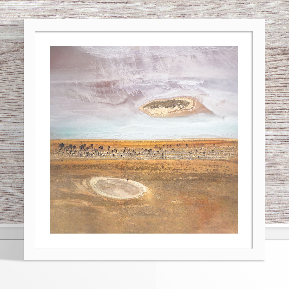 Chris Saunders - 'Aerial Salt 001' White Frame