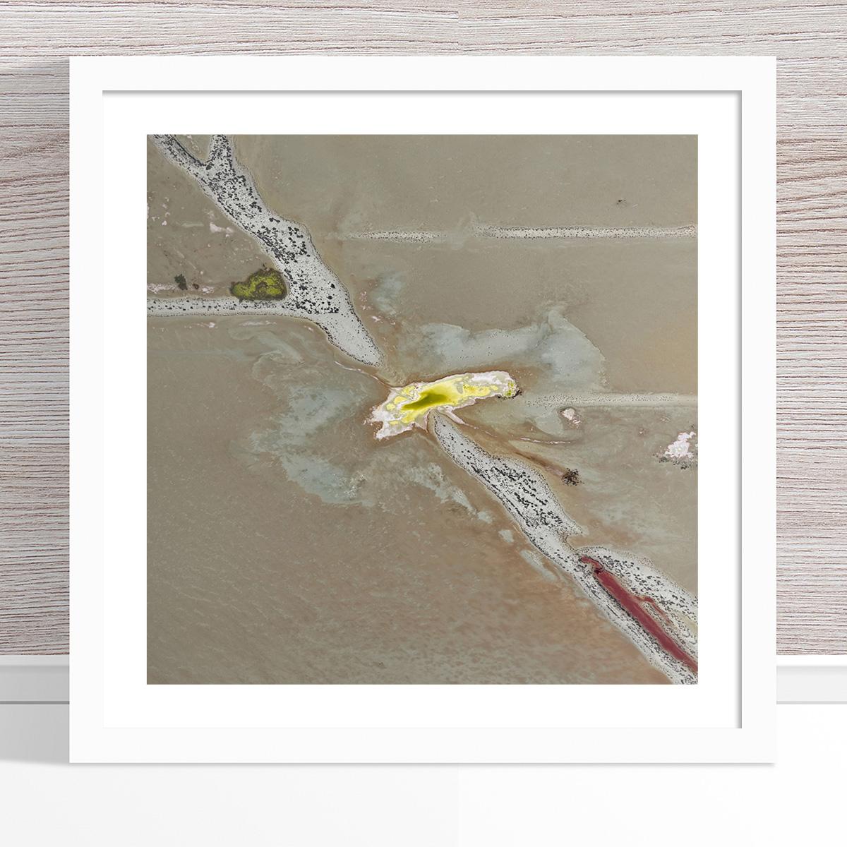 Chris Saunders - 'Aerial Salt 002' White Frame