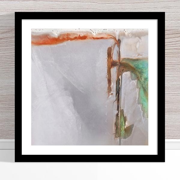 Chris Saunders - 'Aerial Salt 004' Black Frame