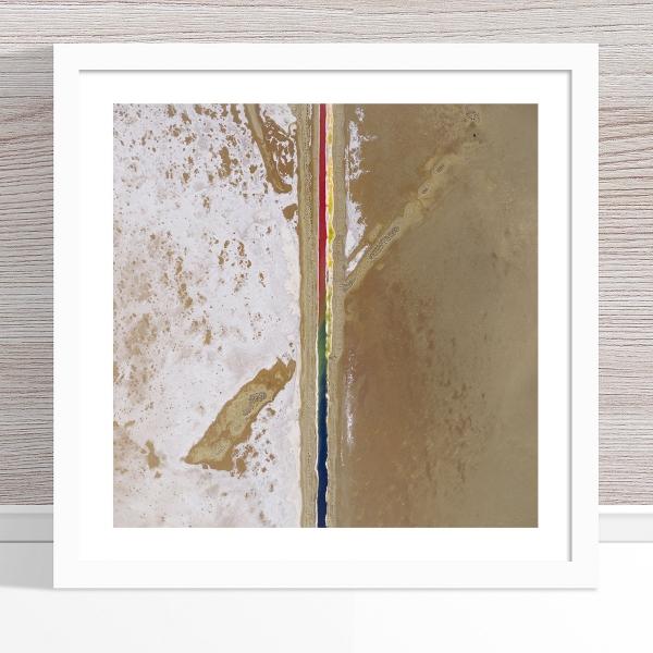Chris Saunders - 'Aerial Salt 005' White Frame