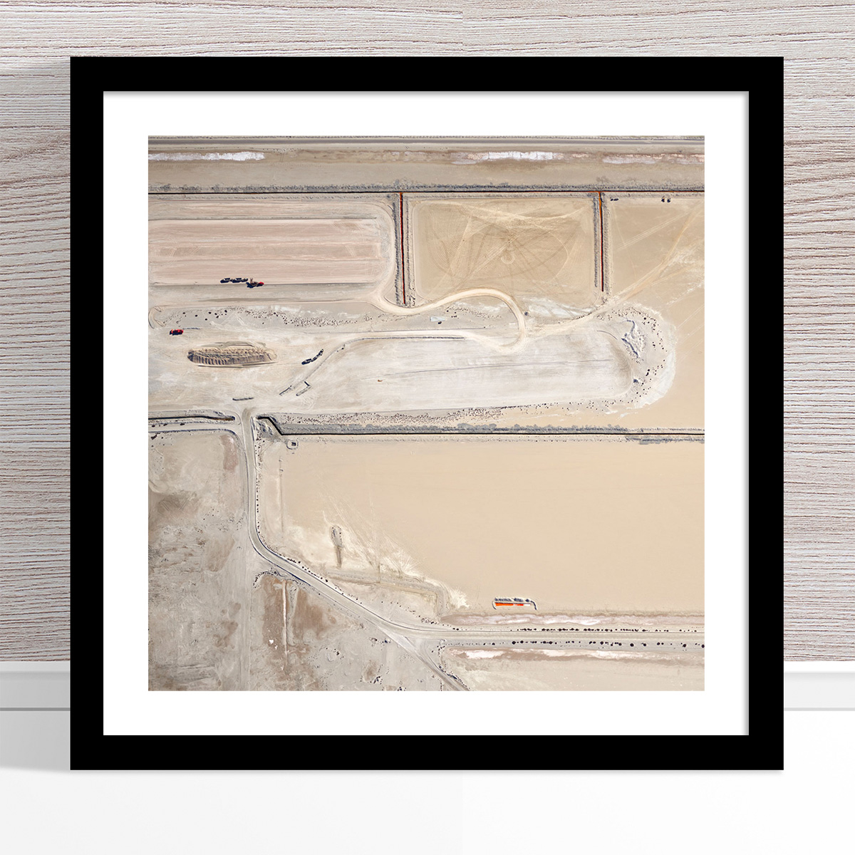 Chris Saunders - 'Aerial Salt 008' Black Frame