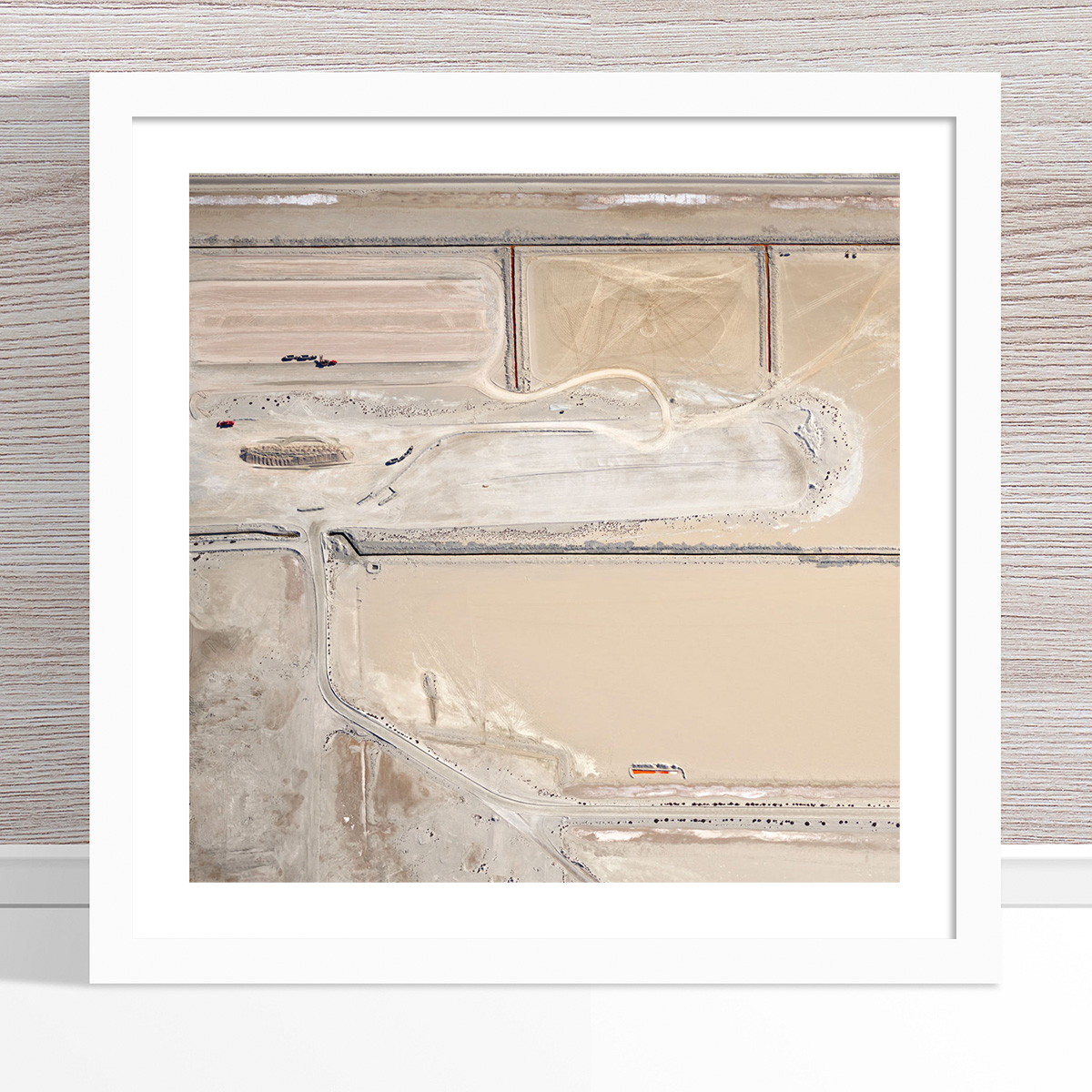 Chris Saunders - 'Aerial Salt 008' White Frame