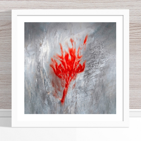 Chris Saunders - 'Aerial Salt 009' White Frame