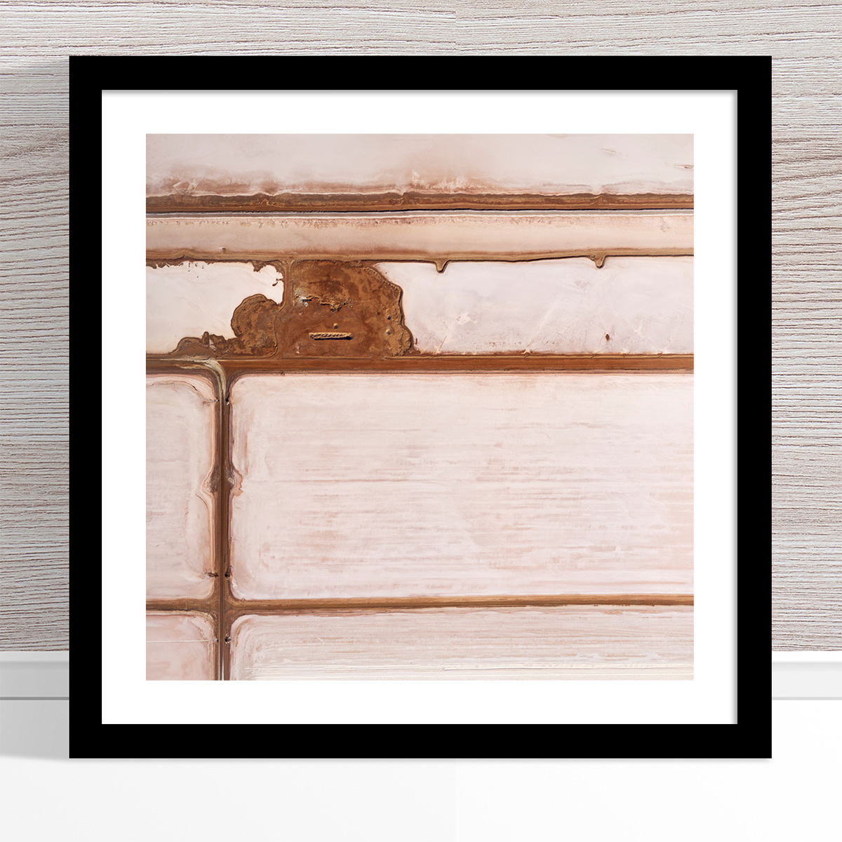 Chris Saunders - 'Aerial Salt 011' Black Frame