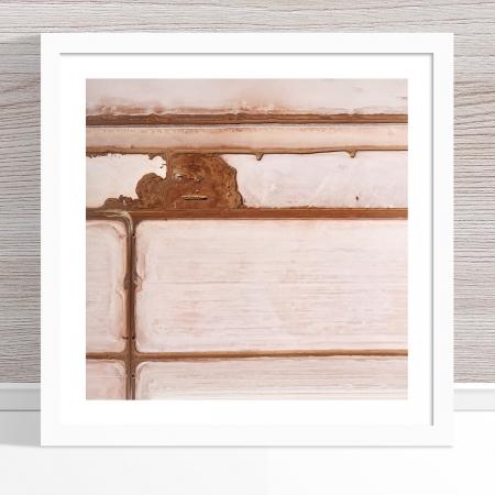 Chris Saunders - 'Aerial Salt 011' White Frame